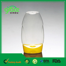 2014 silicone cap honey plastic squeeze bottle