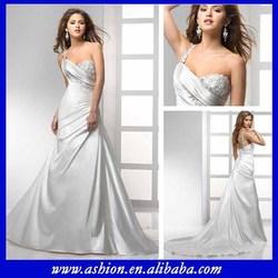 WE-1208 One shoulder a-line wedding dresses china factory wedding dress