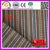 100% Cotton dobby stripe white Brown blue Fabric