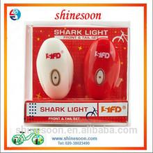 White LED Rear Bicycle Light Headlight Shark Light Bicycle Tail Light