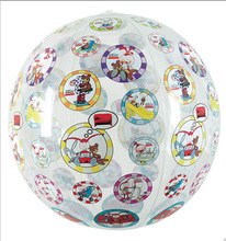 CMYK offset printed by machine inflatable beach ball