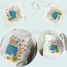 Promotional cotton tote bag shopping bag plain cotton bags
