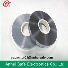 7um Plastic BOPP Antioxidant Metallized Film for Capacitor Use