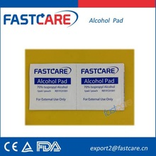 Alcohol prep Pad (with 70% isopropyl alcohol) CE FDA