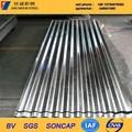 Matériaux de construction ondulé métal galvanisé tôle de toiture / carreaux DX51D matériau SGCC