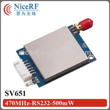 Original manufacturer! SV651 - 3km RF transceiver module 500mW 470 / 915mhz TTL / RS232/ RS485 wireless transmitter receiver
