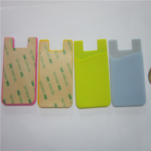 3M adhesive stickers cheap silicone cell phone smart pocket /back holder credit card holder
