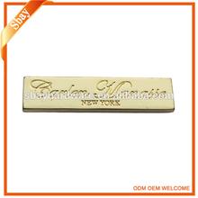 custom design metal logo plate for bags