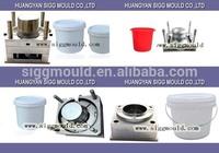OEM Custom Plastic injection Bucket Mould/Custom design plastic 20L paint bucket mould/household products plastic barrel Mold
