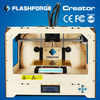 2014 brand new FLASHFORGE dual nozzle 3d modeling printer