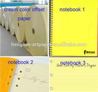 cream color offset paper