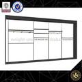 black garment slatwall systems /racks/equipment for clothing store