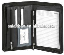 2015 a4 leather portfolio case,A4 Leather Portfolio Case For Executive, Zipper Portfolio Customize different designs a4 leather