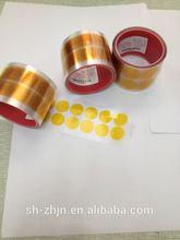 China manufacture high temperature silicone adhesive powder coating green PET masking dots