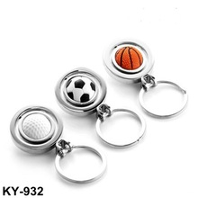2014 New Design Stainless Steel Movable Football Keychain