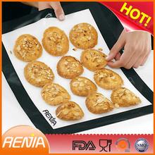 RENJIA bpa free fiberglass silicone baking mat color fiberglass mat black silicone heating mat