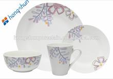 fine porcelain 16pcs dinner set with sample decal