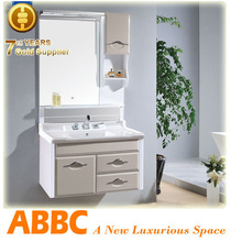 china new design luxury bathroom cabinet resin top model no.A-164