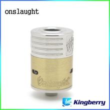 Best sell china wholesale unique design onslaught atomizer RDA clone e cig 3 rings atomizer from Kingberry
