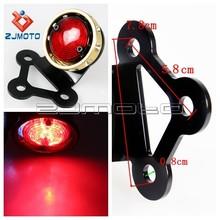 Integrated License Plate Brake Lamp Running Lamp Motorcycle Rear LED Tail Lights Motor Tail Light LED Brass Brake Stop Taillamp