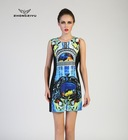 women stylish wearable placement print dress