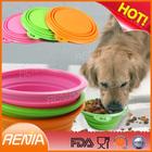 RENJIA silicon collapsing dog bowl,silicone folding dog bowl,silicone pet dog bowl