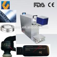 10w 20w metal/steel plates/plastic bottle/stainless steel fiber laser portable