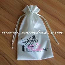 hair extension packaging satin bag