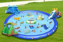 large inflatable pool with slide floating inflatable boat swimming pool