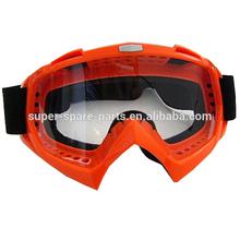 Orange new design wholesale fashion dirt bike goggles