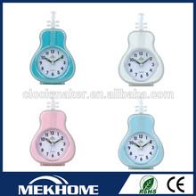 plastic table alarm guitar clock/guitar shape clock
