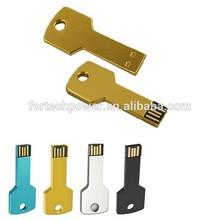Promotional key usb, 8GB usb key, metal key usb flash drive