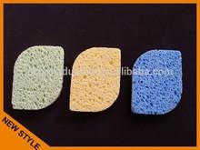 2014 hot sale compressed cellulose leaf shape bath sponge