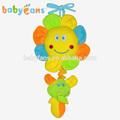 Babyfans bébé coloré de bande dessinée en forme de tournesols et éléphants. rembourrés, musique jouets éducatifs