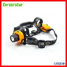 Bronte HA03 Waterproof AAA battery 180 lumen 3 mode cree XP-G R5 led head lamp