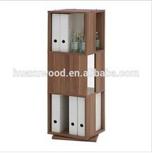 HX-MZN1 fashionable design rotative wooden bookcase