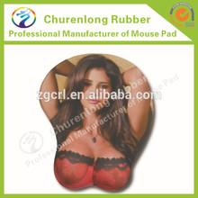 china factory custom 3d sexy girl big boob breast ass mousemat