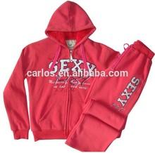 women fleece jogging suit fashion fleece sport wear
