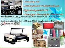HM-T1310 Automatic Acrylic/handicraft/label CNC USB CO2 Laser Engraving Machine/china multi-function machinery