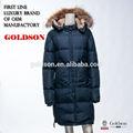 jaqueta de inverno casaco de down destacável com peles colares atacado china manufatura do oem