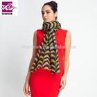 100% Mercerized Wool Fashion Printed Scarf And Shawl