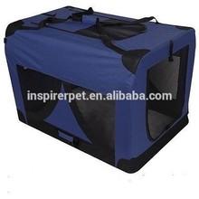 Large Portable Soft Pet Dog Crate Travel Carrier Foldable - Blue Carrier