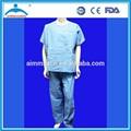 Equipamiento hospitalario no tejida médica pijamas