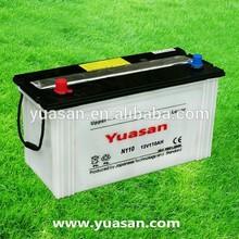 Yuasan 12V110AH Truck Battery 12V Lead Acid Dry Charge Battery--N110(12V110AH)