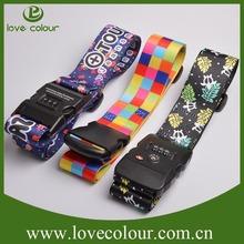 Top Qquality Polyester/Travel/Nylon Luggage Bag Belt/luggage belt with custom logo