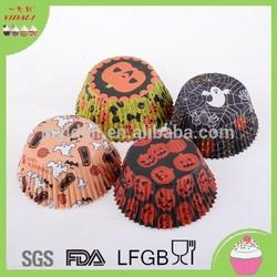 Wholesale Halloween Pumpkin design cupcake, cup cake, cake cup