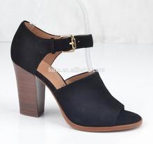 2015 new fashion genuine leatherthick heel ladies women high heels sandal shoes