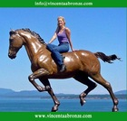 Hot sale bronze horse with nude woman sculpture for sale