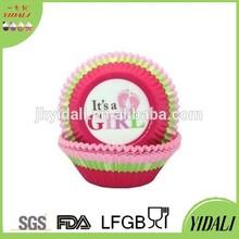 Printing design girl cup cake paper