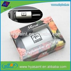 Long lasting perfumes smell rose aluminum car vent air freshener